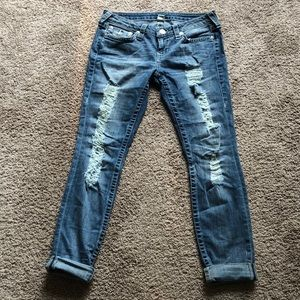 True Religion Jeans Size 30 Ripped Jeans